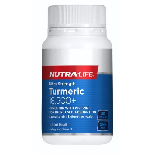 NutraLife Turmeric 18,500+ Ultra Strength 30 Capsules