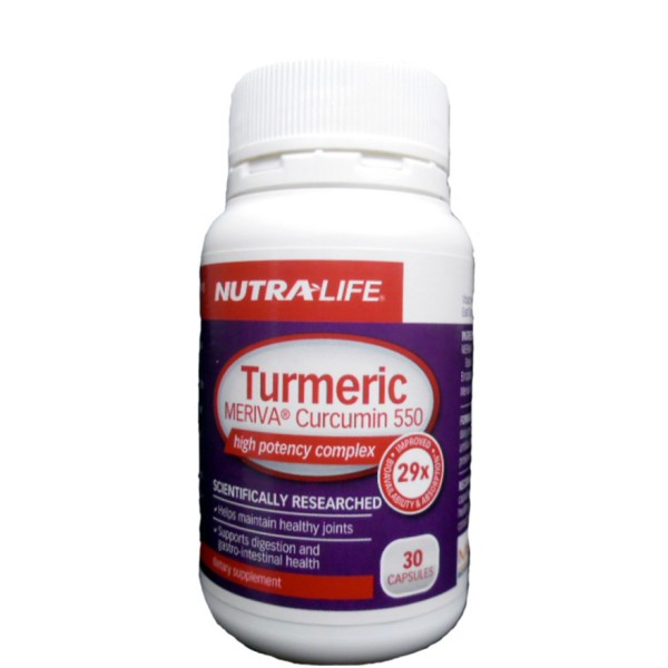 NutraLife Turmeric Meriva Curcumin 550mg 30 Capsules