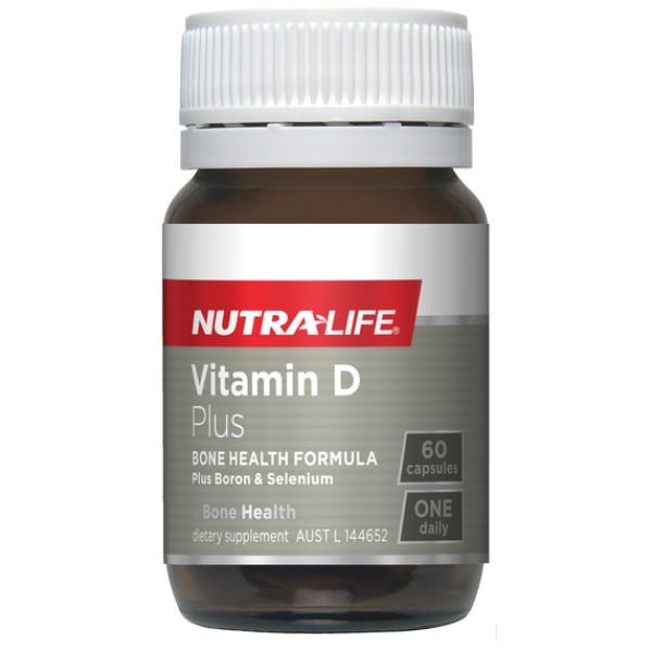 NutraLife Vitamin D3 1000IU Plus Boron & Selenium 60 Capsules