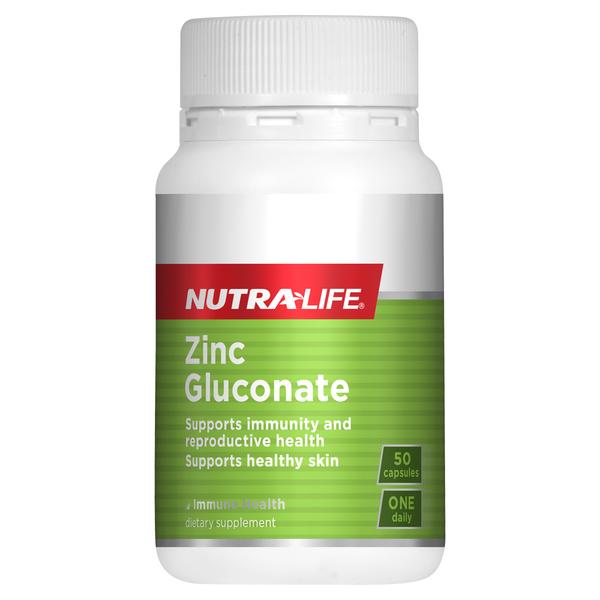 NutraLife Zinc Gluconate 50 Capsules