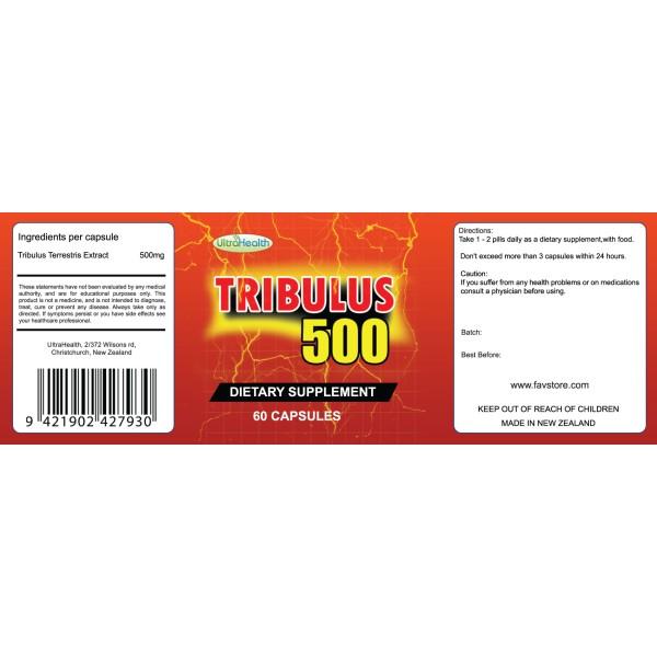 NutraPharm Tribulus Terrestris 500 60 Capsules