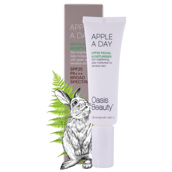 Oasis Beauty Apple a Day SPF 25 Brightening Facial Moisturiser 50ml