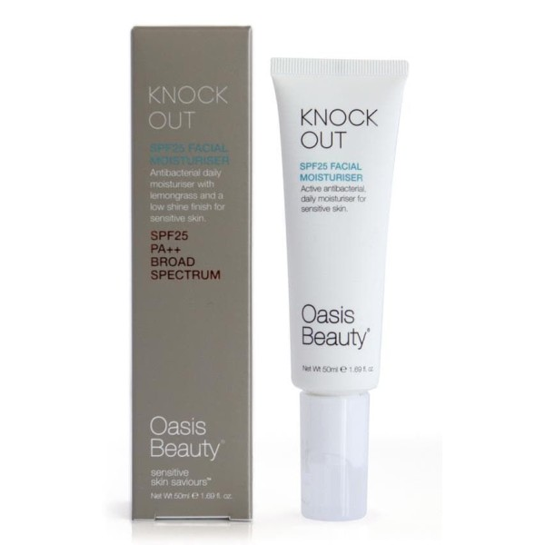 Oasis Beauty Knock Out SPF 25 Antibacterial Facial Moisturiser 50ml
