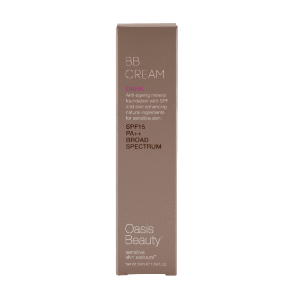 Oasis Beauty Natural BB Cream SPF 15 in Dark Shade 50ml