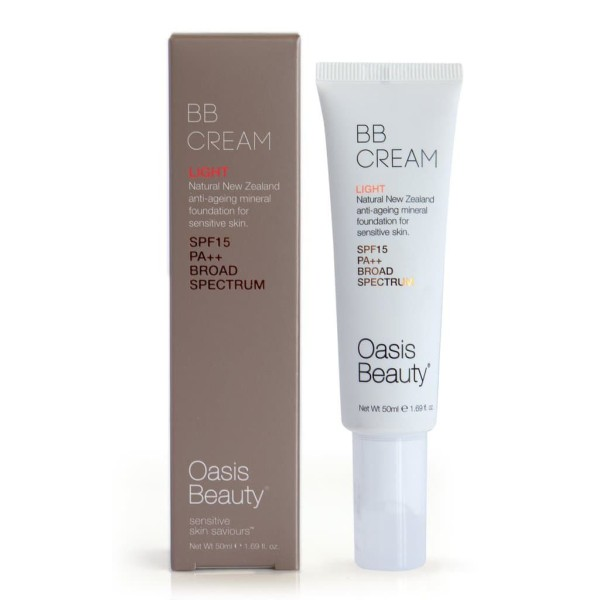 Oasis Beauty Natural BB Cream SPF 15 in Light Shade 50ml