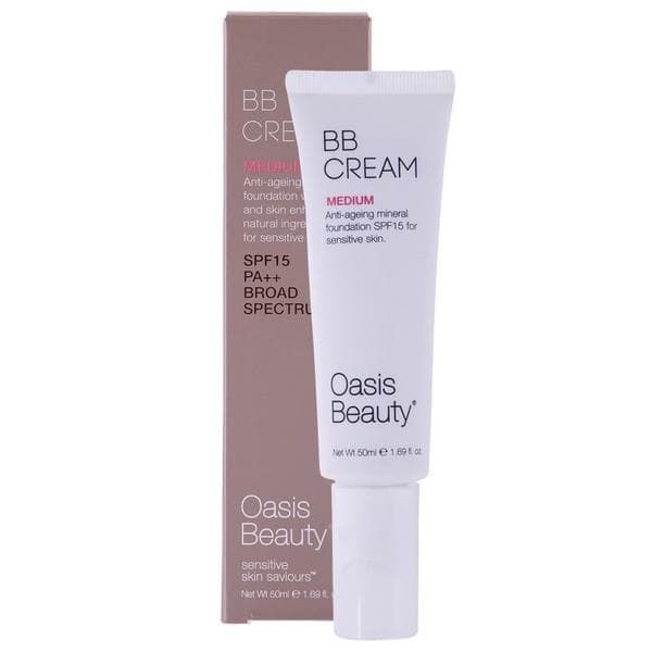 Oasis Beauty Natural BB Cream SPF 15 in Medium Shade 50ml