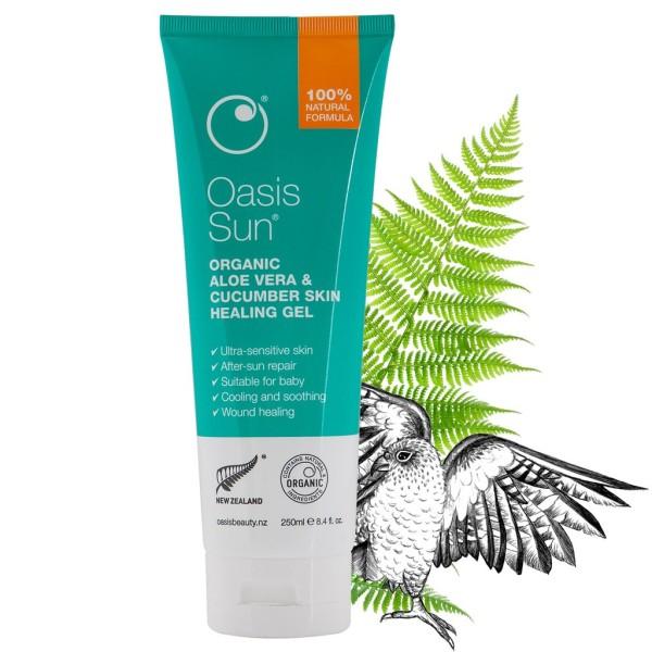 Oasis Sun Aloe Vera & Cucumber Skin Healing Gel (250ml Family Size)