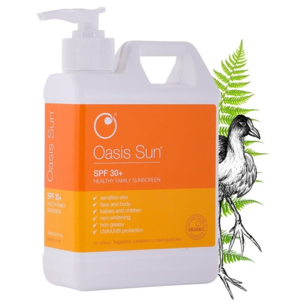 Oasis Sun SPF 30 Family Sunscreen (500ml Jumbo Size)
