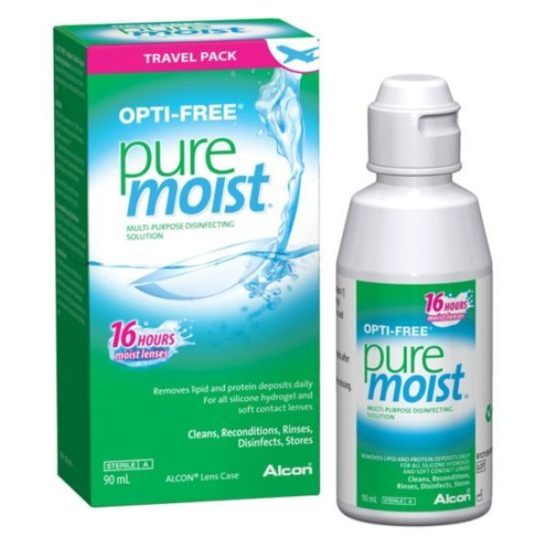 Opti-Free PureMoist Contact Lens Solution 90ml + Lens Case