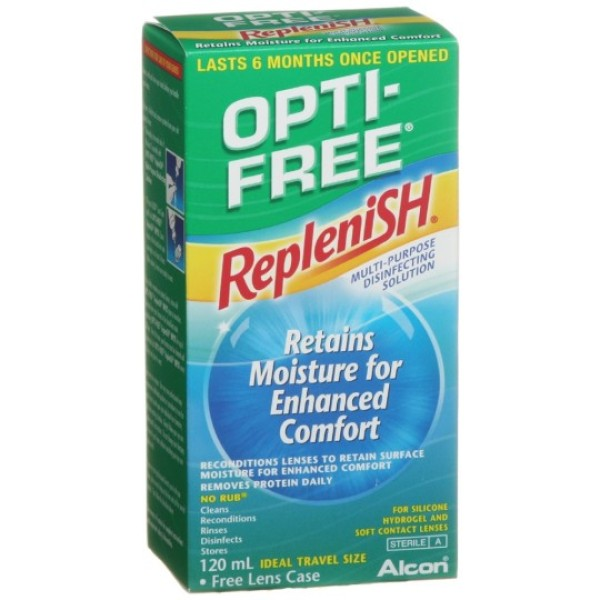 Opti Free Replenish Contact Lens Solution 120ml