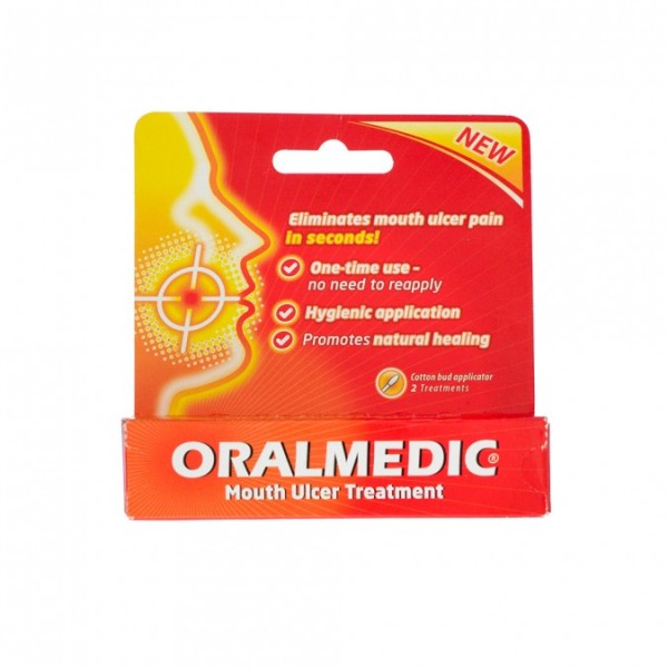 Oralmedic Mouth Ulcer Treatment - 2 cotton bud applicator