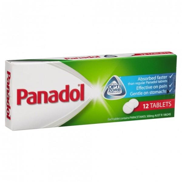 Panadol Paracetamol Optizorb 12 Tablets
