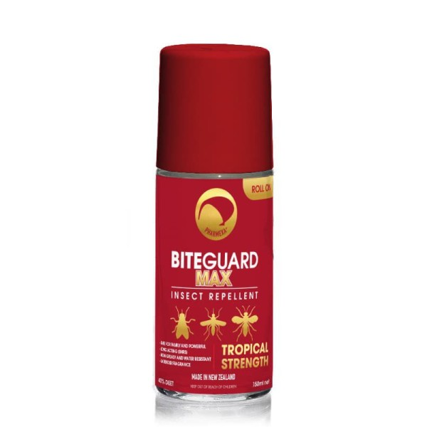 Pharmexa BiteGuard Max Insect Repellent Tropical Strength Roll On 150ml