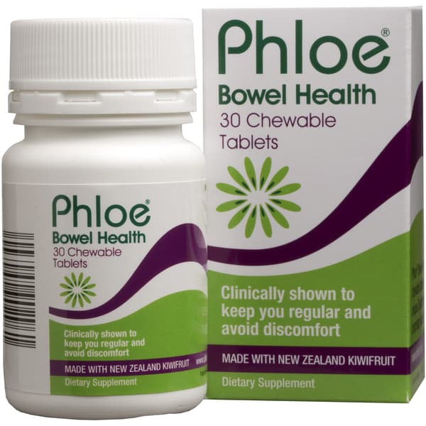 Phloe Bowel Health Kiwifruit 30 Chewable Tablets