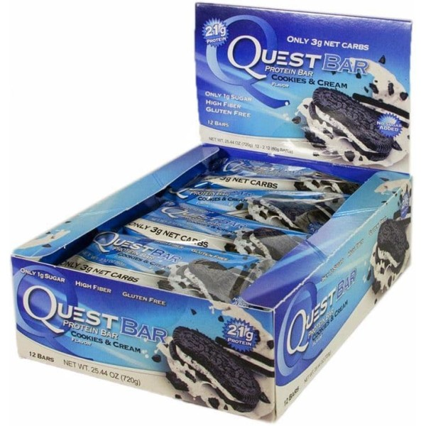 Quest Protein Bar (12 per box) - Cookies & Cream