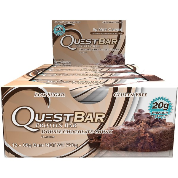 Quest Protein Bar (12 per box) - Double Chocolate Chunk