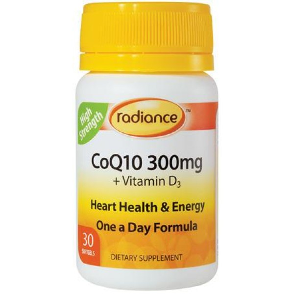Radiance CoQ10 300mg 30 Softgels