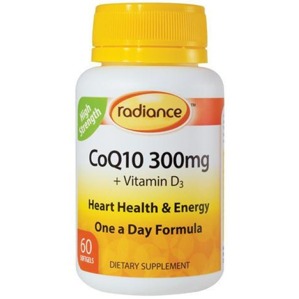 Radiance CoQ10 300mg 60 Softgels