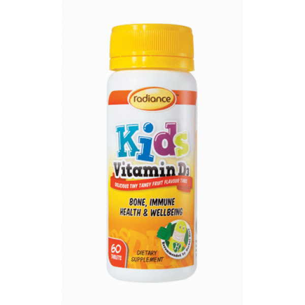 Radiance Kids Vitamin D3 Chewable 60 Tablets