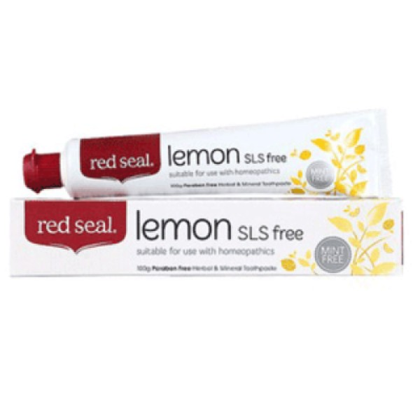 Red Seal Lemon Toothpaste SLS Free 100g