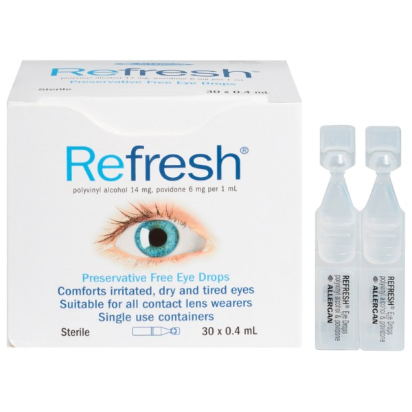 Refresh Preservative Free Lubricant Eye Drops 30x0.4ml
