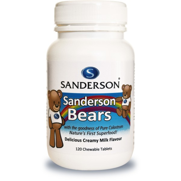 Sanderson Bears Colostrum Chewable Milk Flavour 120 Tablets