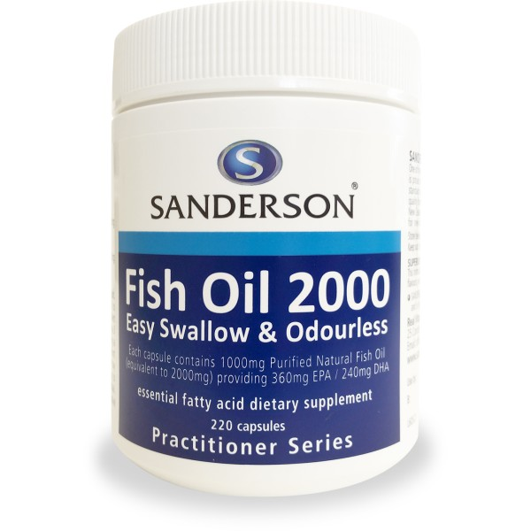 Sanderson Fish Oil 2000mg Odourless 220 Capsules