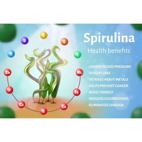 Sanderson Hawaiian Spirulina 1000mg Verified Non-GMO 90 Tablets
