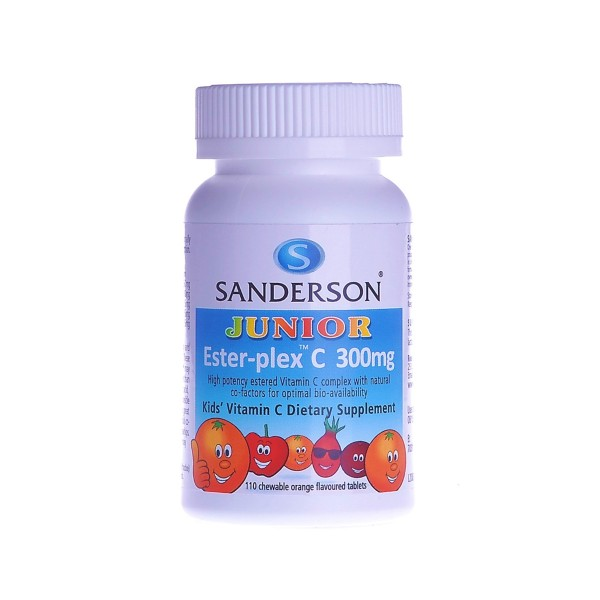Sanderson Junior Ester-plex C 300mg Orange Chewable 110 Tablets