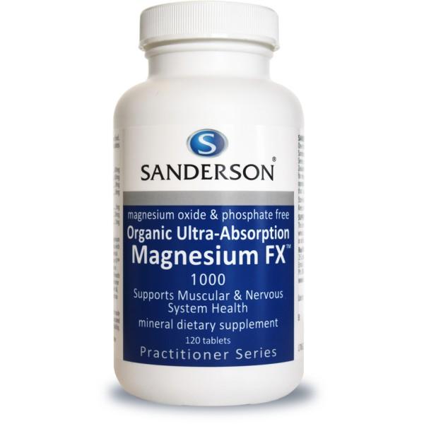 Sanderson Organic Magnesium FX 1000mg 120 Tablets