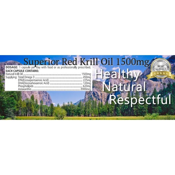 Sanderson Superior Red Krill Oil 1500mg 30 Capsules