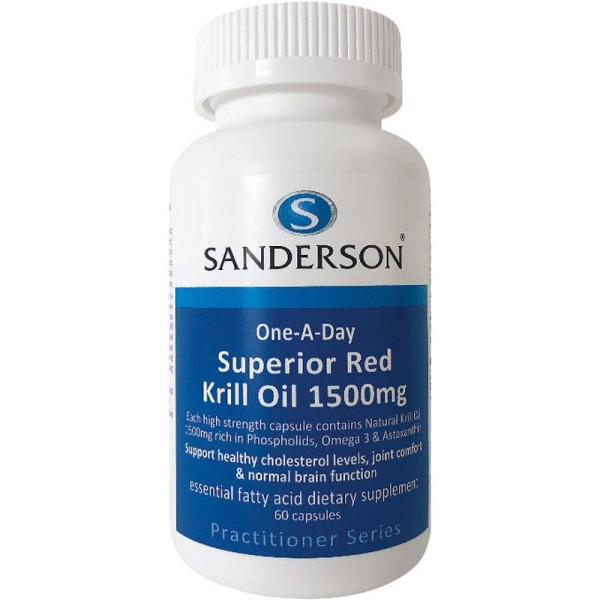 Sanderson Superior Red Krill Oil 1500mg 60 Capsules