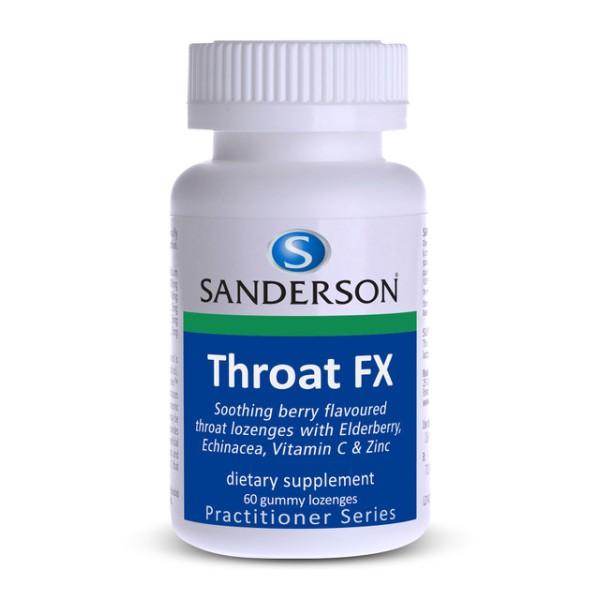 Sanderson Throat FX 60 Gummy Lozenges