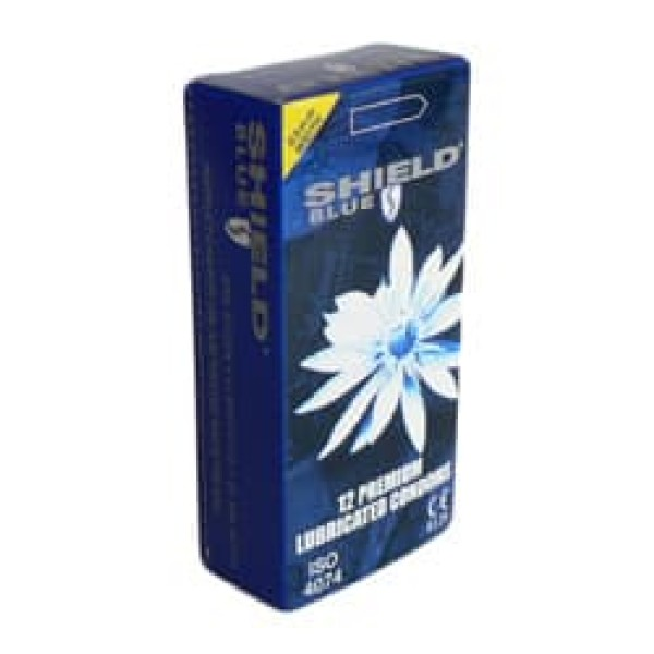 Shield Blue Condoms Non-Spermicidal 53mm 12 Pk