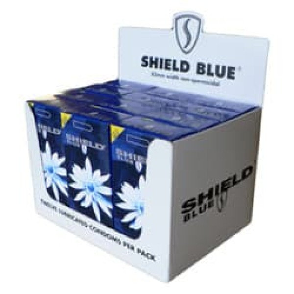 Shield Blue Condoms Non-Spermicidal 53mm 12 x 12 Pk