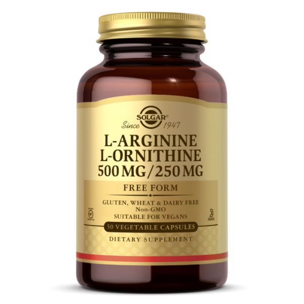 Solgar L-Arginine/L-Ornithine 500/250mg Vegetable Capsules