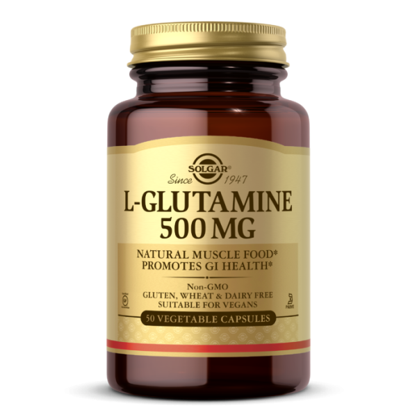Solgar L-Glutamine 500mg Vegetable Capsules