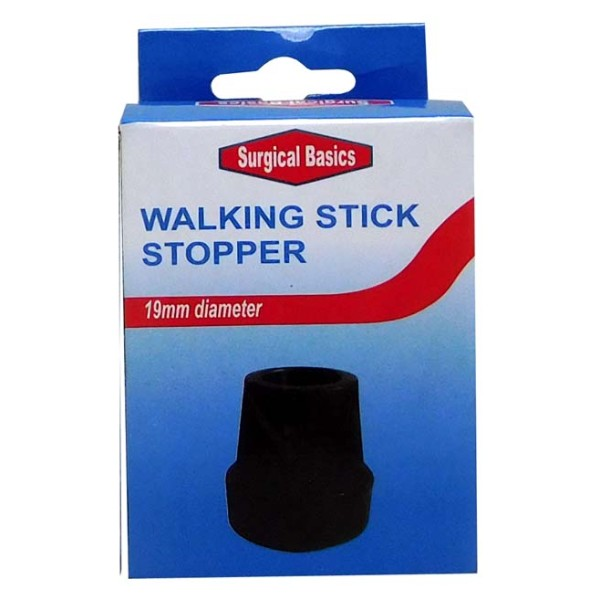Surgical Basics Walking Stick Replacement Stopper in Black 19mm