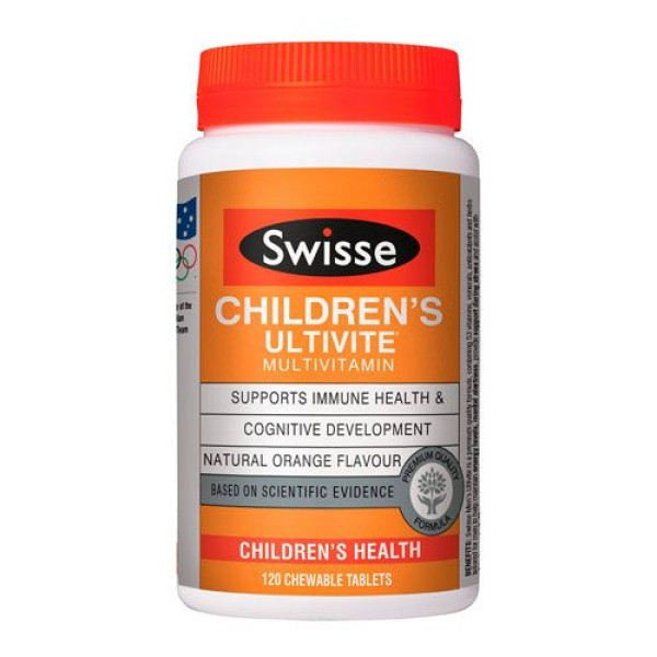 Swisse Children's Ultivite Multivitamin 120 Chewable Tablets