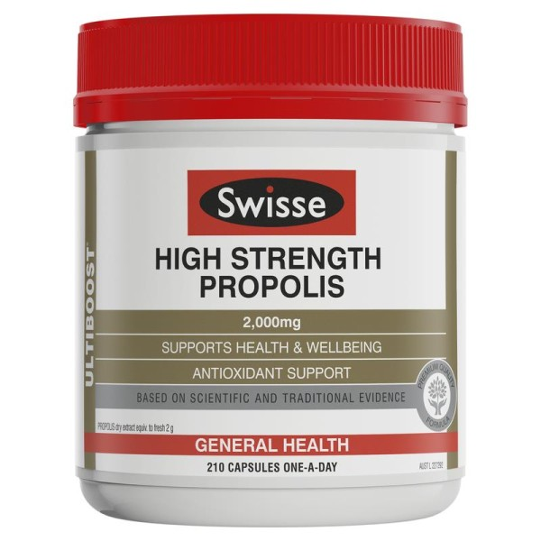 Swisse Ultiboost High Strength Propolis 2000mg 210 Capsules