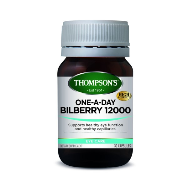 Thompson's Bilberry 12000mg One A Day 30 Capsules