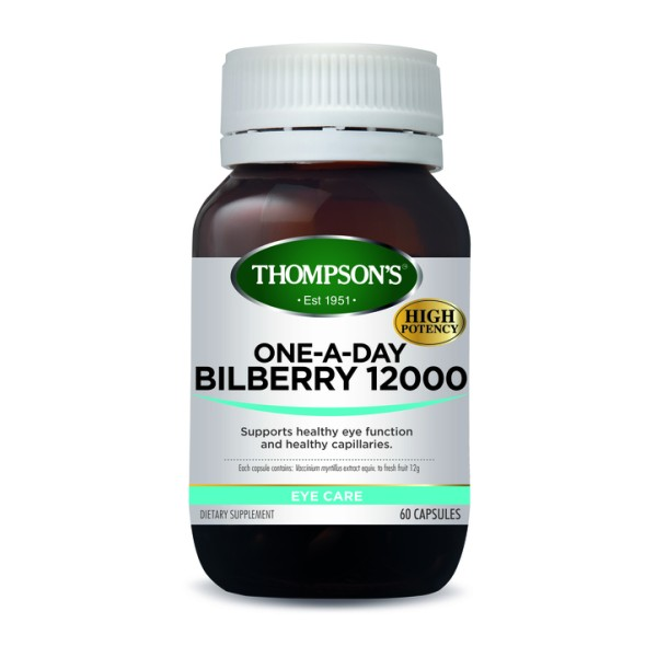 Thompson's Bilberry 12000mg One A Day 60 Capsules