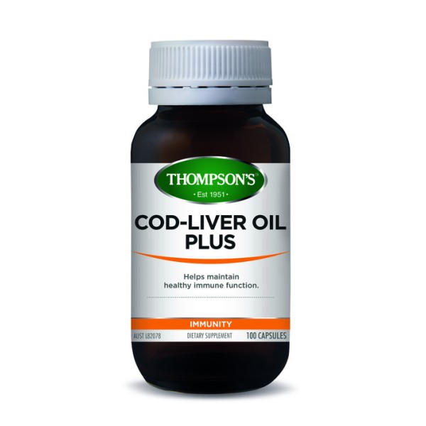 Thompson's Cod Liver Oil 100 Capsules