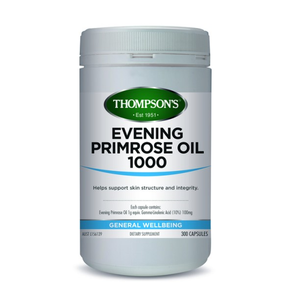Thompson's Evening Primrose Oil 1000mg 300 Capsules