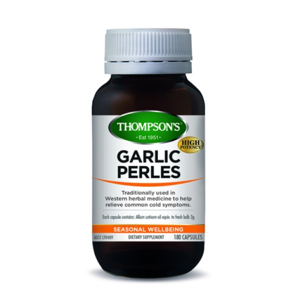 Thompson's Garlic Perles 180 Capsules
