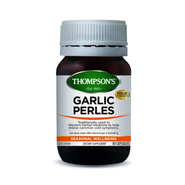 Thompson's Garlic Perles 80 Capsules