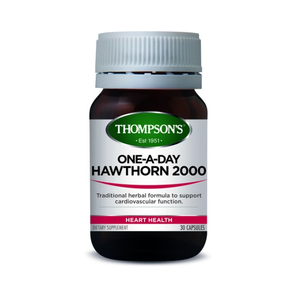 Thompson's Hawthorn 2000mg One A Day 30 Capsules