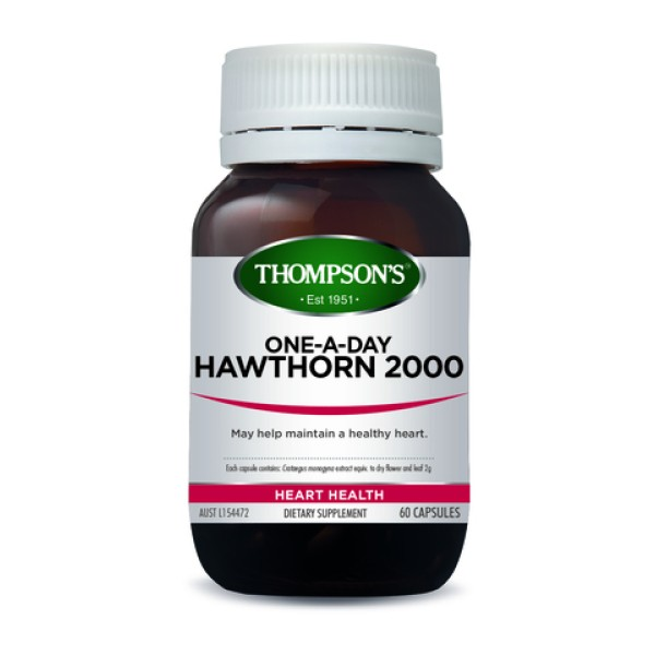 Thompson's Hawthorn 2000mg One A Day 60 Capsules