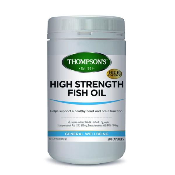 Thompson's High Strength Fish Oil 1500mg 200 Capsules