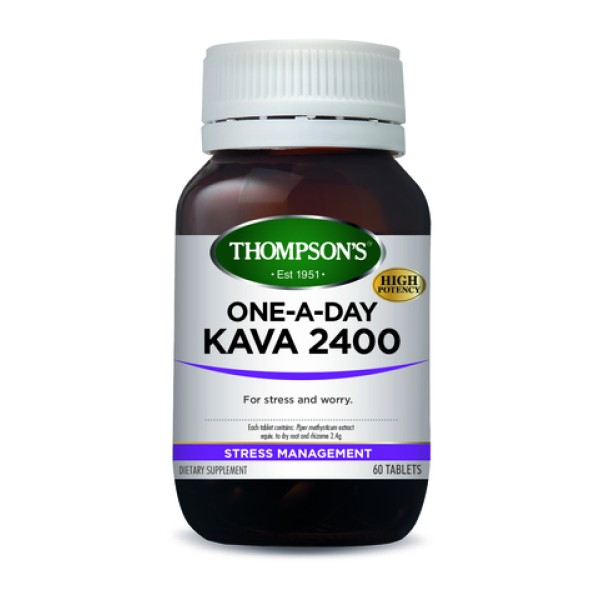 Thompson's Kava 2400mg One A Day 60 Tablets
